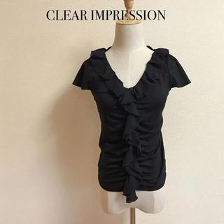クリアインプレッション(CLEAR IMPRESSION)のCLEAR IMPRESSION フリルカットソー サイズ2(カットソー(半袖/袖なし))