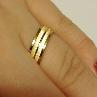 ゴールドラインリング 6mm幅 単品(リング(指輪))