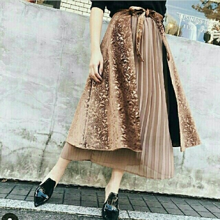 Ameri VINTAGE - ARABESQUE LAYERED SKIRT