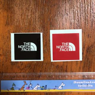 ザノースフェイス(THE NORTH FACE)のノースフェイス ミニステッカー  ロゴ 赤黒セット(その他)