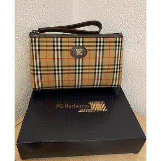 バーバリー(BURBERRY)の美品未使用 箱付き BURBERRY バーバリー クラッチ バッグ ノバチェック(クラッチバッグ)