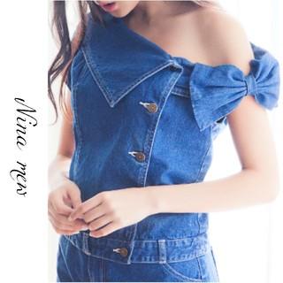 Nina mew - Nina mew*ニーナミュウ【美品】オフショルダーデニムジャケット