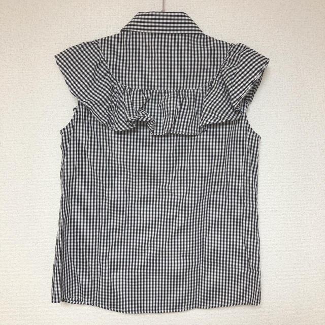 ByeBye(バイバイ)のByeBye♡ギンガムチェックフリルブラウス レディースのトップス(シャツ/ブラウス(半袖/袖なし))の商品写真