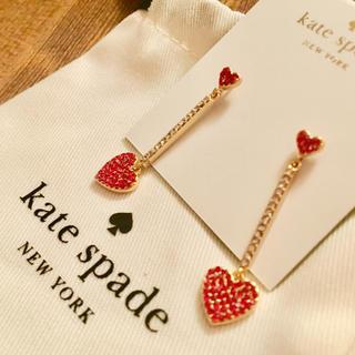 kate spade new york - 【新品¨̮♡︎】ケイトスペード  ハート ドロップピアス
