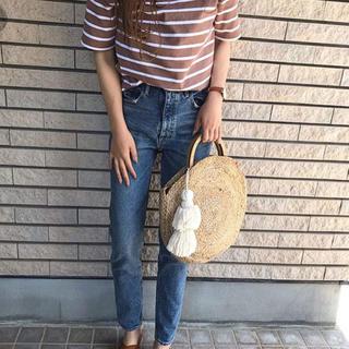 ジーユー(GU)のボーダーボートネックt gu(Tシャツ(半袖/袖なし))
