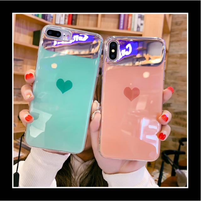 tory iphonex ケース バンパー | iPhoneケース 韓国 女性 キラキラ 美光沢 ミラー ハートの通販 by Freely 's shop|ラクマ