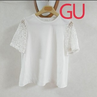ジーユー(GU)の❤レース&サイド シースルー切替❤GU(シャツ/ブラウス(半袖/袖なし))