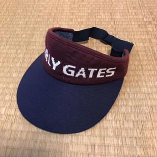 パーリーゲイツ(PEARLY GATES)のパーリーゲイツ サンバイザー ゴルフ 赤 男性用 フリーサイズ(サンバイザー)