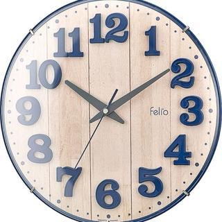 在庫わずか★置き時計・掛け時計 ネイビーブルー 18