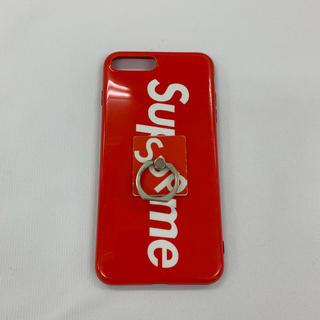 シュプリーム(Supreme)のiphone 7 plus ケース レッド(iPhoneケース)