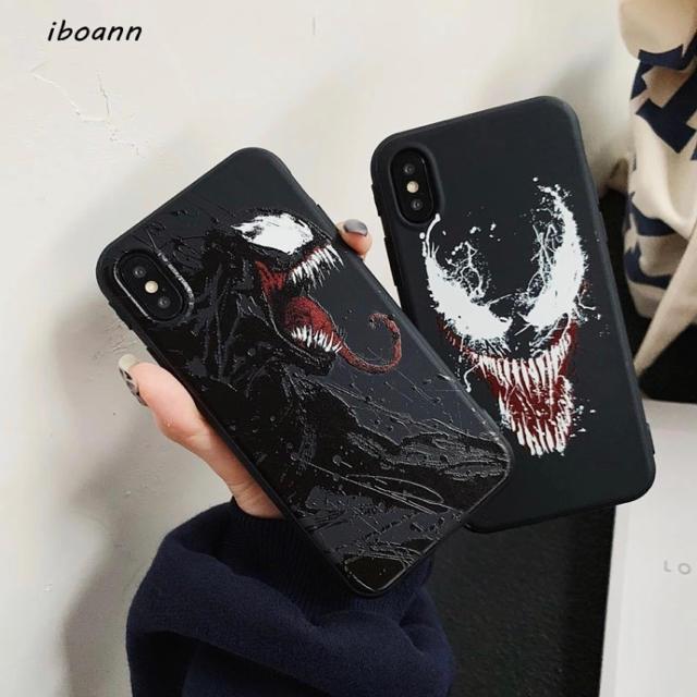 iphone8 カメラ ケース / 漆黒のヴェノム  iphoneケース エンボス立体加工の通販 by ターキ屋   プロフ見てね|ラクマ