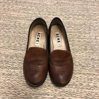 アクネ(ACNE)のアクネ レザー ブラウン(ローファー/革靴)