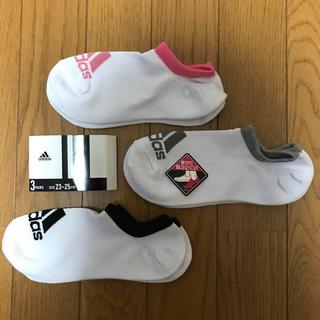 アディダス(adidas)の6足で2,250円‼️adidas☆深履き スニーカーソックス 23〜25 ④(ソックス)