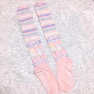 Angelic Pretty - アンジェリックプリティ ニーソックス お菓子柄 ボーダー 靴下 福袋