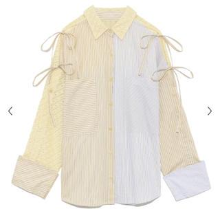 snidel - ストライプミックスシャツ  snidel