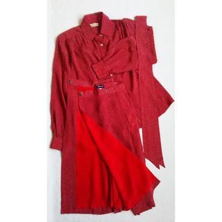 サンローラン(Saint Laurent)のサンローラン 絹100% ブラウススーツ(セット/コーデ)