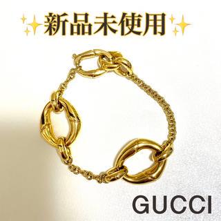 グッチ(Gucci)の【赤字価格‼️限界お値下げ‼️】GUCCI ヴィンテージ  ゴールドブレスレット(ブレスレット/バングル)