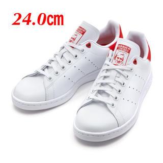 アディダス(adidas)の【24.0㎝】白   adidasスタンスミス  ハート(スニーカー)