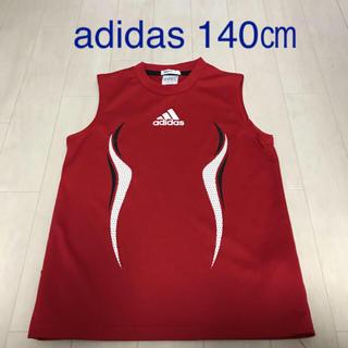 アディダス(adidas)のタンクトップ adidas140 adidasタンクトップ 赤タンクトップ(Tシャツ/カットソー)