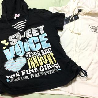シマムラ(しまむら)の140センチ ノースリ&半袖パーカーセット 新品含(Tシャツ/カットソー)