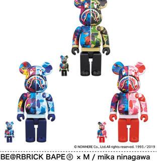 アベイシングエイプ(A BATHING APE)のBE@RBRICK BAPE × M / mika ninagawa 3色セット(その他)