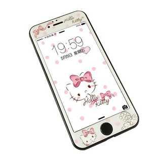キティーちゃん  iPhone 用 強化ガラス 全面保護フィルム