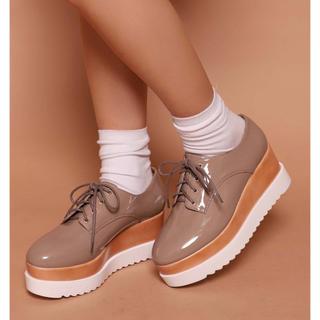 ワンアフターアナザーナイスクラップ(one after another NICE CLAUP)のナイスクラップ   厚底レースアップシューズ(ローファー/革靴)