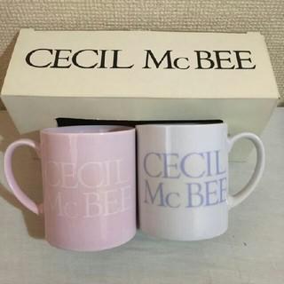セシルマクビー(CECIL McBEE)のCECIL McBEE ペア マグカップ 新品未使用(グラス/カップ)