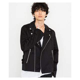 ミハラヤスヒロ(MIHARAYASUHIRO)のミハラヤスヒロ サテンライダースジャケット 44 新品 定価5.7万 限定(ライダースジャケット)