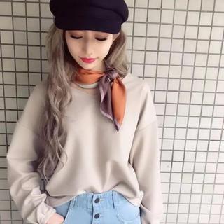 イング(INGNI)の今期 ワンウェイ 新品 スカーフ 付き カットソー イング AZUL エモダ(カットソー(長袖/七分))