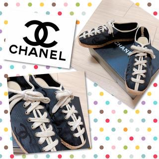 シャネル(CHANEL)の美品☆☆☆CHANEL エスパドリーユ ココマーク スニーカー 靴(スニーカー)
