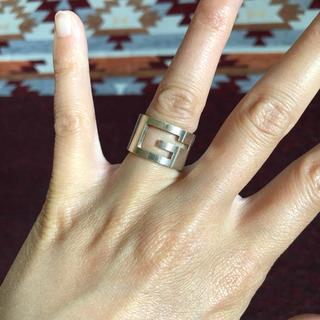 グッチ(Gucci)のGUCCI*グッチ*リング*指輪*10号*シルバー925(リング(指輪))