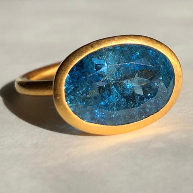 アクアマリンk22 ゴールドリング検索 マリーエレーヌ ジェムパレス  レディースのアクセサリー(リング(指輪))の商品写真