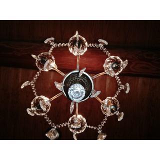 LED 6灯シャンデリア 軽量 アンティーク