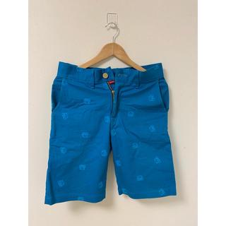 エドウィン(EDWIN)のEDWIN ハーフパンツ キャラ刺繍 ブルー(デニム/ジーンズ)