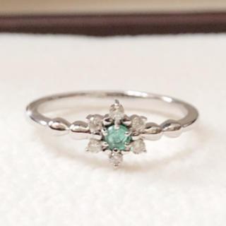 K10WG エメラルドとダイヤのリング(リング(指輪))