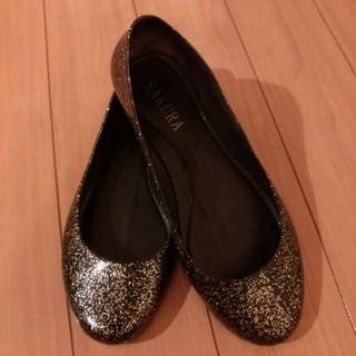 ★ブラックラメレインシューズ★(レインブーツ/長靴)
