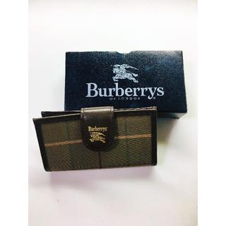バーバリー(BURBERRY)の【未使用】Burberry キーケース ヴィンテージ 本革(キーケース)
