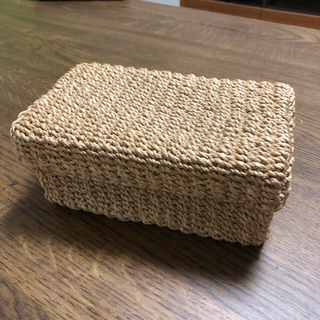 MUJI (無印良品) - 無印 カゴ 蓋付き小物入れ