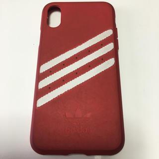 アディダス(adidas)のadidas iPhone X 携帯カバーレッド(iPhoneケース)