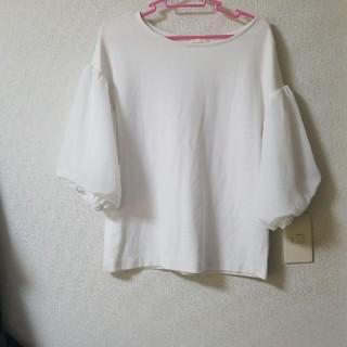 ジーユー(GU)のGU トップス ブラウス Mサイズ(カットソー(半袖/袖なし))