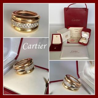 カルティエ(Cartier)の補償付き発送♡高島屋直営店 カルティエ ダイヤ 3連リング♡トリニティリング(リング(指輪))