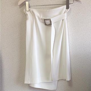 ノーブル(Noble)の☆NOBLE☆エステルツイル ラップスカート(ひざ丈スカート)
