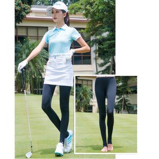 足の甲までUVカット 夏日焼け対策 ひんやり素材 ゴルフウェア 夏用レギンス
