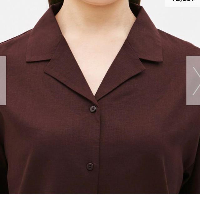 GU(ジーユー)のリネンブレンドオープンカラーシャツ レディースのトップス(シャツ/ブラウス(半袖/袖なし))の商品写真