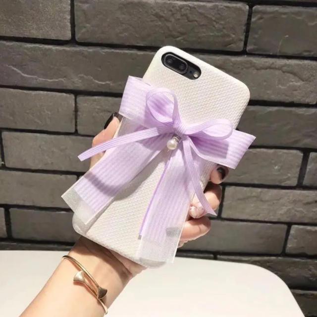 新品 かわいいリボン 白 アイフォンケース  iPhone の通販 by ペンギン's shop|ラクマ