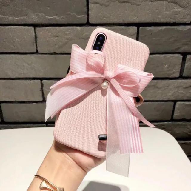 coach アイフォーンx ケース | 新品 かわいいリボン ピンク アイフォンケース  iPhone の通販 by ペンギン's shop|ラクマ