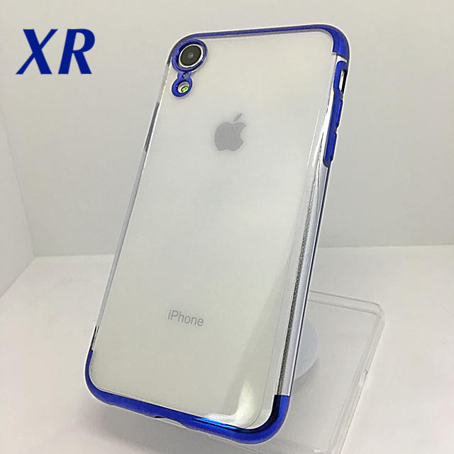 iphone8 クリア ケース 衝撃 - アイフォンXR iPhoneXRソフトケース☆ブルー☆送料無料☆父の日の通販 by ロゴ's shop|ラクマ