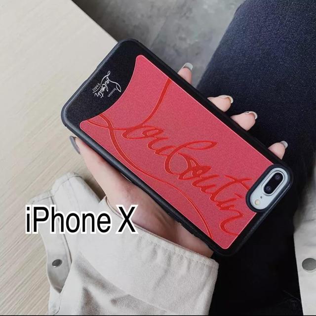 FENDI アイフォンxr ケース / Christian Louboutin - iPhone X ブラックケースの通販 by coco♡'s shop|クリスチャンルブタンならラクマ