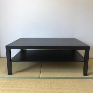 イケア(IKEA)のテーブル 黒 IKEA(コーヒーテーブル/サイドテーブル)